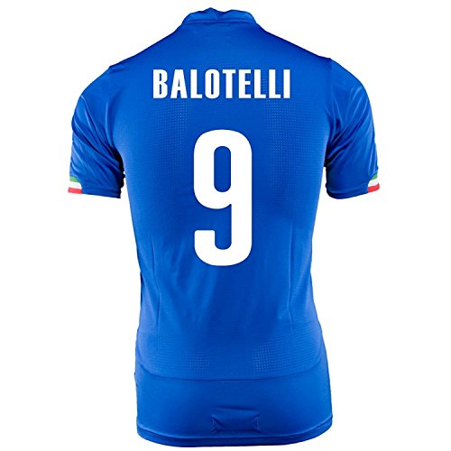 Puma Balotelli #9 Italy Home Jersey World Cup 2014 Blue royal