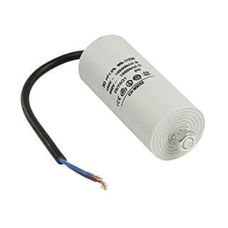 Kondensator Betriebskondensator Motorkondensator Anlaufkondensator Arbeitskondensator Steckeranschluss mit Kabel 450V + Kabel W9 von 2,0µF bis 50µF wählen Sie die benötigte Größe 2.0µF, 2.5µF, 3µF, 4µF, 6µF, 8µF, 10µF, 12µF, 16µF, 25µF, 30µF, 40µF, oder 50µF (30µF)