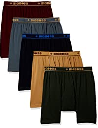 Dollar Bigboss Men's Cotton Boxers (Pack of 5) (Colors May Vary)