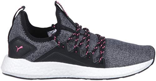 PUMA Women s Nrgy Neko Knit Sneaker  Black-Knockout Pink  8 5 M US