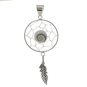 Bella Carina Unisex Anhänger Traumfänger mit Shiva Auge, 925 Sterling Silber