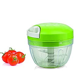 OLYPEX High Quality Manual Handy Vegetable Chopper And Cutter For Kitchen Chipper Onion Garlic Spice Shredder Grinder Mixer Food Processor Slicer Kitchen Chopper With pull Cord Technology Premium ABS Quality Triple Sharp Blades 500 ML Multipurpose