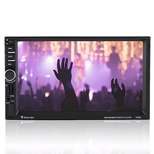 7 pollici HD Touch Screen 2DIN Autoradio,stereo auto con Bluetooth lettore video MP5 con radio FM Radio AUX Telecomando Telecamera retrovisiva.