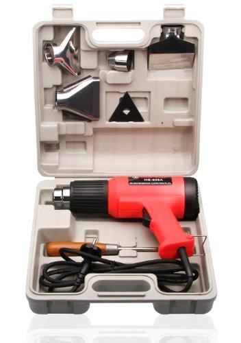 Heissluftpistole-Set im Koffer 2000 Watt 2 stufig 350/600°C - Heizluftpistole
