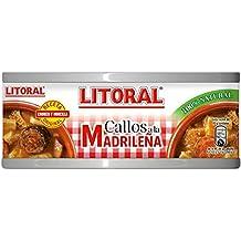 LITORAL Callos Madrileña - Plato Preparado Sin Gluten - Paquete de 12 x 380 gr -