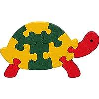 Puzzles bois enfant SPYRA. Puzzles tortue enfant en bois 100% hêtre. Couleurs naturelles. Fabriqué en Europe