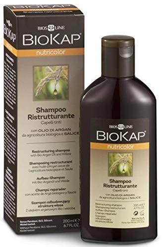 BIOKAP Aufbau Shampoo für coloriertes Haar mit Bio-Arganöl und Weidenrinde, 200 ml