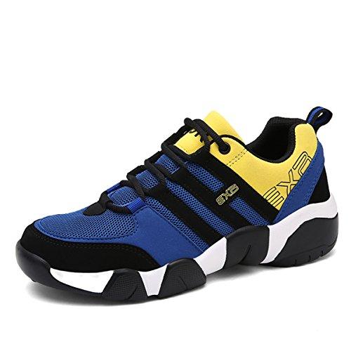 gracosy Sportschuhe, Herren Damen Sneaker Turnschuhe Unisex Laufschuhe Straßenlaufschuhe Freizeitschuhe Hallenschuhe Gelb-Blau 44