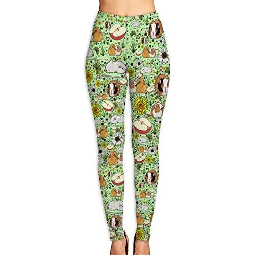 cleaer Guinea Pigs High Waist Yoga Pants Tummy Control Workout Pants for Women Stretch Yoga Leggings-Large -