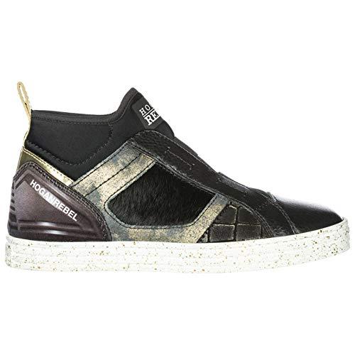 Hogan Rebel Sneakers Alte Donna Nero 35.5 EU 412c3ca8f9a