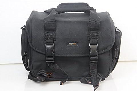 AmazonBasics Digital-Spiegelreflex-Kameratasche (groß, orangefarbenes Innenfutter)
