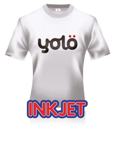 100 x A4 Sheets of yolö Inkjet Iron-On Heat Transfer Paper / T-Shirt Transfers for Light Fabrics