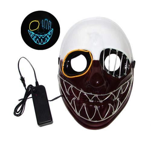 myonly máscara de Halloween LED para fiesta, fantasma, máscara de cosplay con resplandor de alambre, máscaras para Halloween, graduación