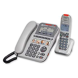 Amplicomms PowerTel 2880 Combo Corded & Cordless Amplified Telephone