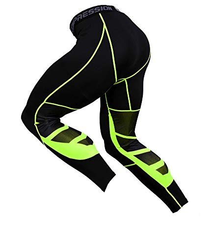 a 3//4 per corsa a compressione leggings da uomo Yuerlian Capri allenamento palestra