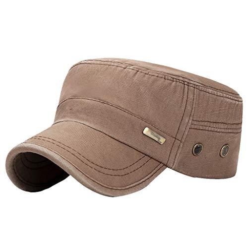 Fenverk Herren Baseball Cap Classic Vintage Cotton Basecap Snapback Caps Outdoor Kappe MüTze Unisex Kappen Hut Frauen MäNner(C Brown) - Aquarium Holz-thomas