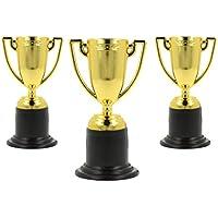 Storm&Lighthouse 12x Trofeos pequeños de plástico Dorado - Rellenos de Bolsas de Fiesta / recompensas de Aula / premios / recompensas Deportivas