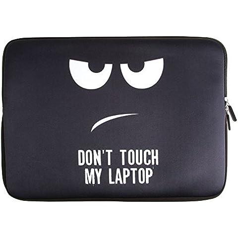 ivencase DON'T TOUCH MY LAPTOP 13-13,3 pulgadas Neopreno Laptop Funda Protectora Impermeable Suave Sleeve para Macbook Pro / Macbook Pro retina display / Notebook / Macbook Air / Ultrabook , Color