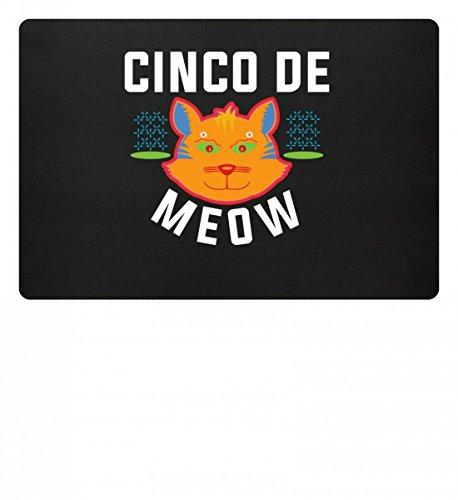 Cinco De Mayo - Cinco De Meow Miau Katze Damen Herren - Schlichtes und WItziges Design - Fußmatte