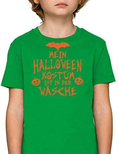 Grusel Gruppen Premium Bio Baumwoll Mädchen Jungen Kinder T-Shirt Stanley Stella Mein Halloween Kostüm ist in der Wäsche 3, Größe: 9/11,Fresh Green (Drei Der Halloween-kostüme Mädels)