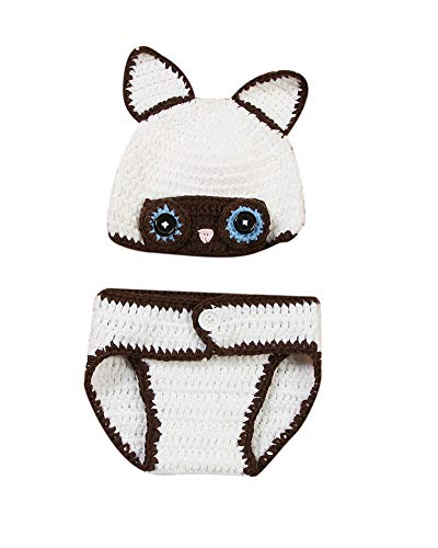 Kinder Baby Strick Mütze Fotoshooting Hund Neugeborene Muster Design Hut Kostüm Hüte Weiß