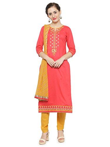 Kvsfab Women's Cotton Unstitched Salwar Kameez Dupatta Material [KVSSK10081AND_3]