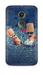 Amez designer printed 3d premium high quality back case cover for Motorola Moto X (2nd Generation) (Creative OH Yeah Cigarette End Design Art)
