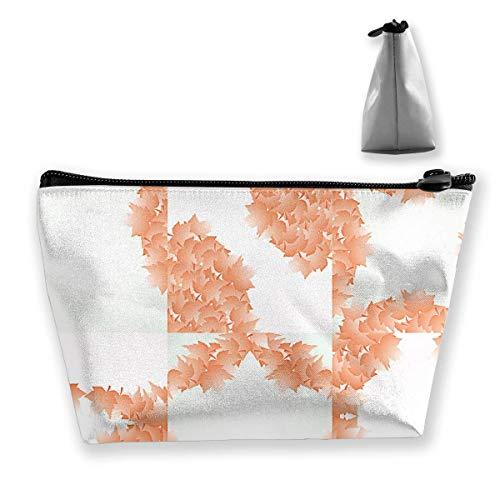 Herbst Frame Makeup Bag Reisetasche Kosmetiktaschen mit Reißverschluss -