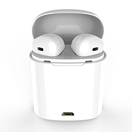 GEJIN Bluetooth Ohrhörer Drahtlose Kopfhörer Stereo In-Ear Ohrhörer Kopfhörer Freisprecheinrichtung Noise Cancelling für Apple AirPods iPhone X 8 8 plus 7 7 plus 6 S Samsung Galaxy S7 S8 iOS Android Smartphones. (Iphone 6 Bluetooth-mikrofon)