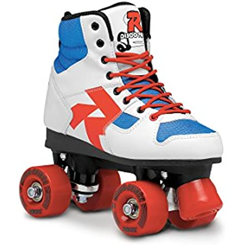 Roces Rollerskates Disco Palace - Patines en paralelo, color blanco (white-blue-red), talla 38
