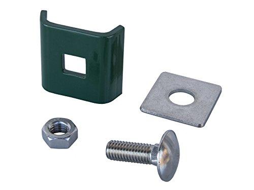 Verbinder in Grün, Gittermattenverbinder, Eckverbinder Doppelstabmatten-Zaun