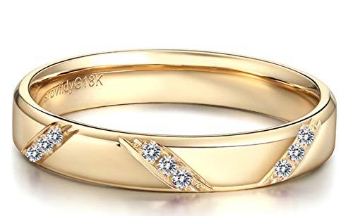 6bf64343fc9e Blisfille Anillos de Compromiso Oro Mujer Joyería Anillo 18 Kilates de Diamante  Anillo de Oro