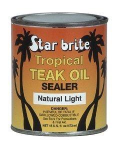 STARBRITE Tropical Teak Oil Classic Clear 16oz Tin