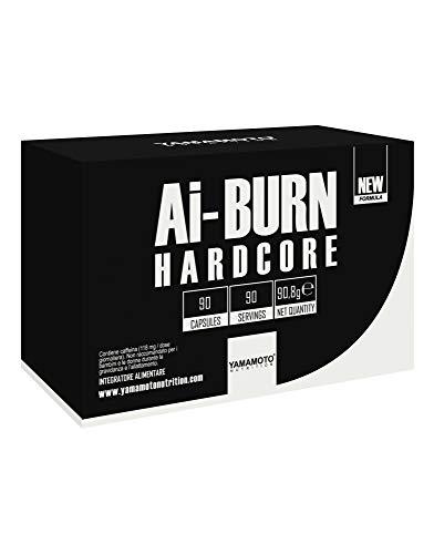 Yamamoto Nutrition Ai-BURN HARDCORE integratore alimentare termogenico come coadiuvante di diete volte al controllo e alla riduzione del peso (90 capsule)