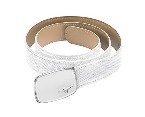 Mizuno MP Digital Leather Belt - White, One Size