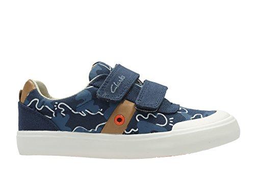 Clarks Chaussures occasionnelles du comic Zone Inf garçon Navy Canvas