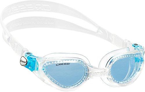 Cressi Premium Gafas de Natación para Adulto, Right, Transparente/Lentes Azul