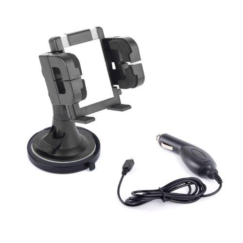 Handy-Halterung / Zubehör - Set für Windschutzscheibe, Armaturenbrett und Lüftungsgitter mit Autoladekabel für HTC Incredible / Incredible S Handy