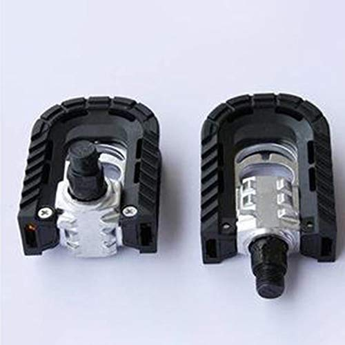 DGdolph Bike Folding Pedal Bicycle Pedals Universal Aluminum Alloy Cycling Pedals Black&Silver