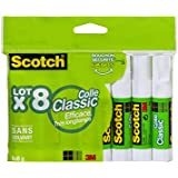 Scotch Bâton de colle Transparent Lot de 8