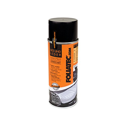 Foliatec F2401 Seat und Leather Color Spray, 1 x 400 ml, Weiß/Matt