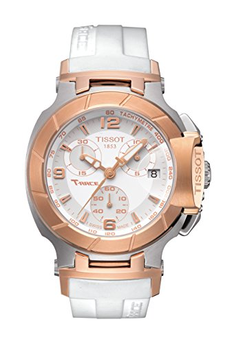 Tissot T-Race Cadran blanc montre femme # T048.217.27.017.00, modèle: T048.217.27.017.00, main/montre bracelet Store à la main/montre bracelet Shop
