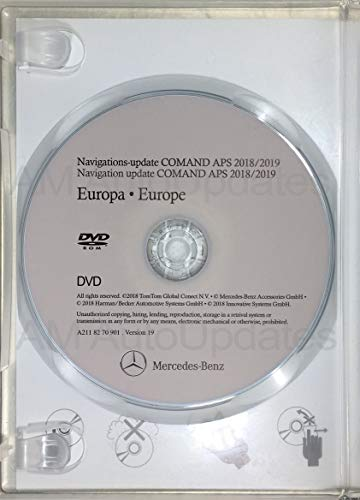 DVD-ROM Mercedes Navigation Update 2018/2019 NTG1 ID Color Green