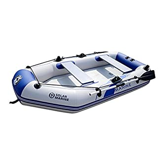SummerYoung 2/3/4 Person Inflatable Boat Rubber Tender Raft Dinghy Travelling