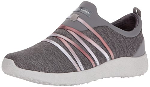 Skechers Womens/Ladies Burst Alter Ego Slip On Textile Casual Trainers Grey