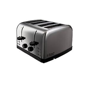 Russell Hobbs 18790 Futura 4 Slice Toaster - Stainless Steel Silver