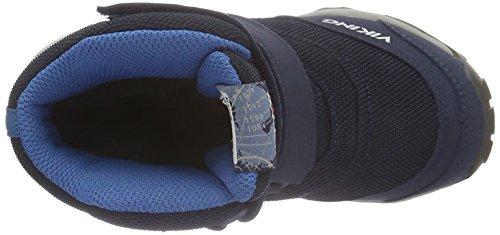 Viking Bifrost Iii, Chaussures avec fermeture velcro  mixte enfant Bleu - Blau (Navy/Petrol 555)