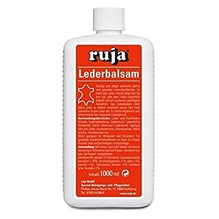 ruja Lederbalsam 1 Liter | Lederpflege für Echtleder und Kunstleder | Reinigung und Pflege für Sofas, Schuhe, Autositze, Jacken, Handtaschen, Motorradbekleidung UVM