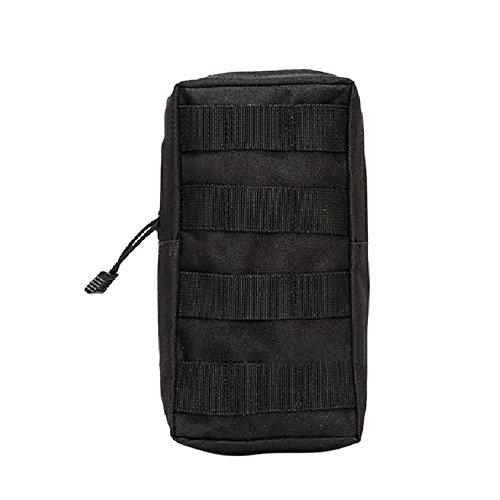 Amazmall Taktische Tasche Bauchtasche Gürteltasche EDC Molle Tasche Handytasche für Camping Wandern Outdoor Black