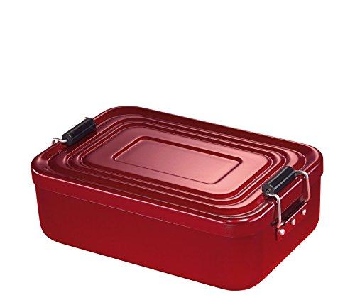 Küchenprofi 1001461418 Lunch Box, klein, Aluminium rot (Kinder Für Aluminium-lunch-boxen)